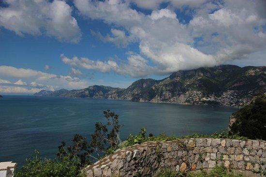 Hotel Pellegrino: Looking West towards Positano