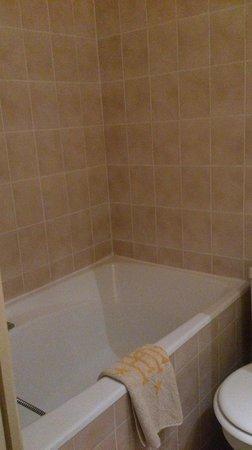 Grand Hotel du Havre: 暗く狭い。シャワーカーテンなし。