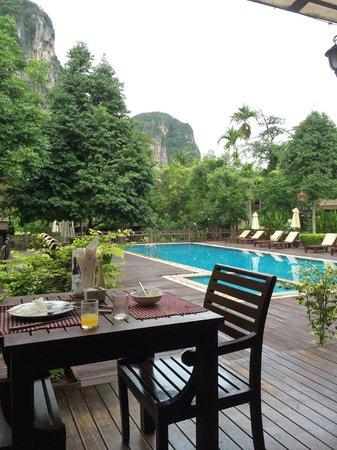 Aonang Phu Petra Resort, Krabi: View when having breakfast