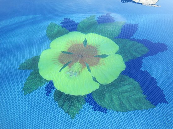 Mahina Surf: hibiscus pool bottom