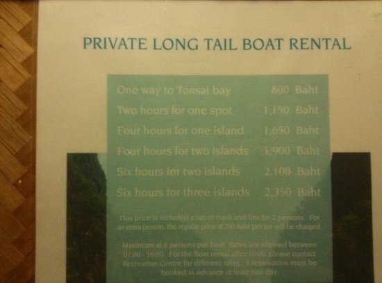 Phi Phi Island Village Beach Resort : Boat price