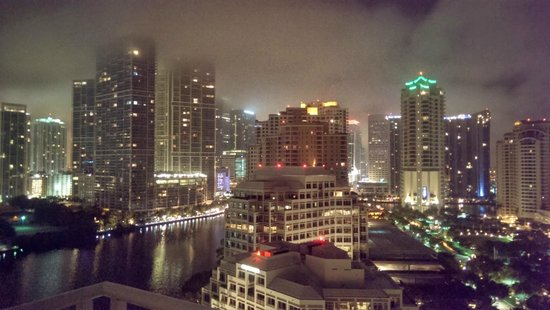Mandarin Oriental, Miami: View from top floor room balcony, right Dynasty Suite