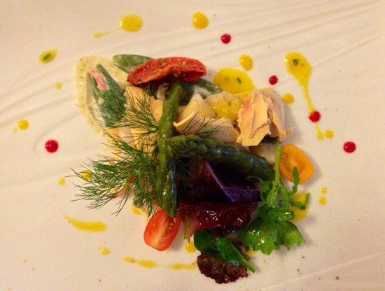 Restaurant La Fleur de Thym: Raw scallop and fois gras