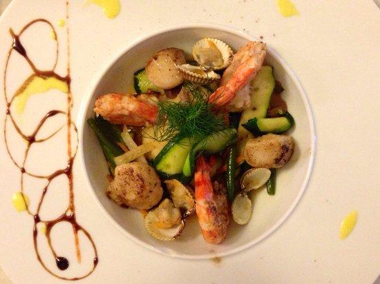 Restaurant La Fleur de Thym: Seafood with potato