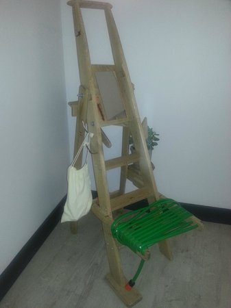 Qbic Hotel London City: Is it a chair or is it a ladder...