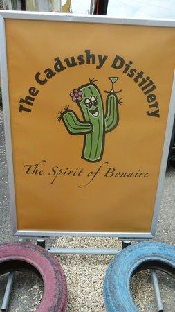 The Cadushy Distillery: Cadushy Sign