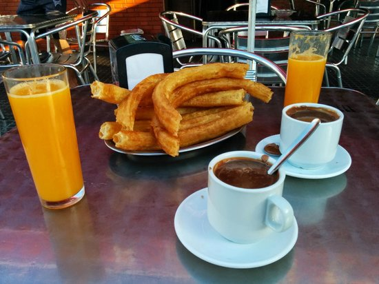 Barcelo Malaga: Churros From The Kiosk Outside