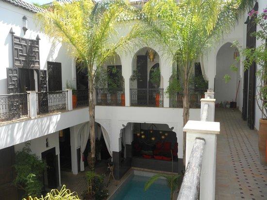 Riad Pachavana: le patio vu d'en haut