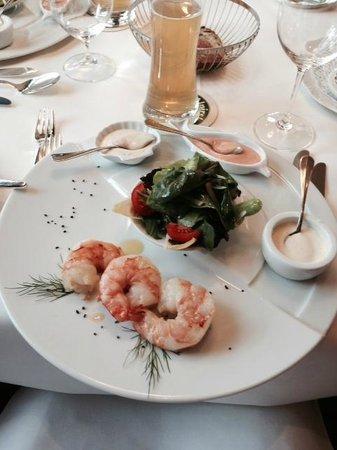 Restaurant Warteck: Prawn appetizer