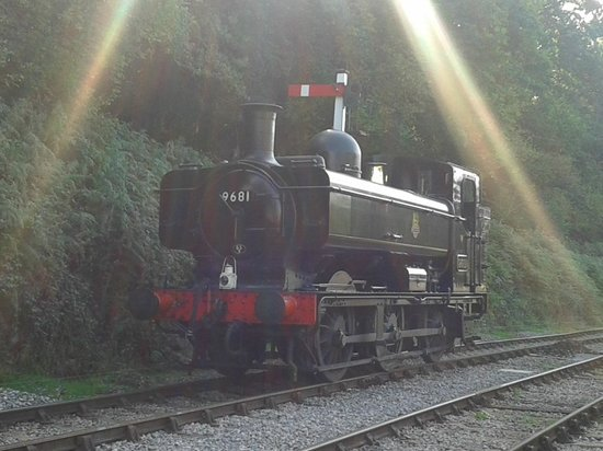 Dean Forest Railway: 9681 waits for the signal at Parkend.