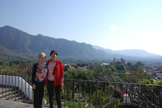 Posada Del Tepozteco: view of city...and sister and wife