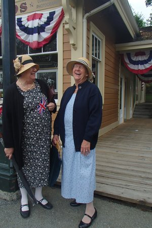 Burnaby Village Museum: Two Old Friends sharing laughs