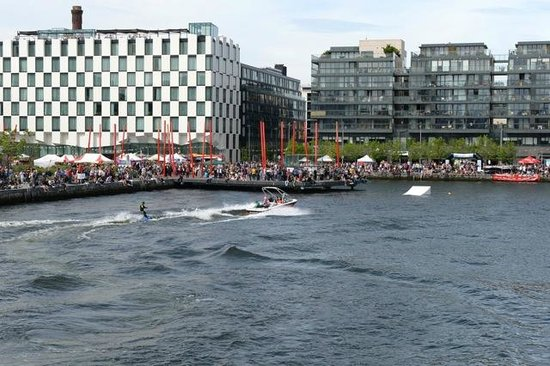 "The Marker Hotel: View of the ""White Chequered"" Marker Hotel across the water"