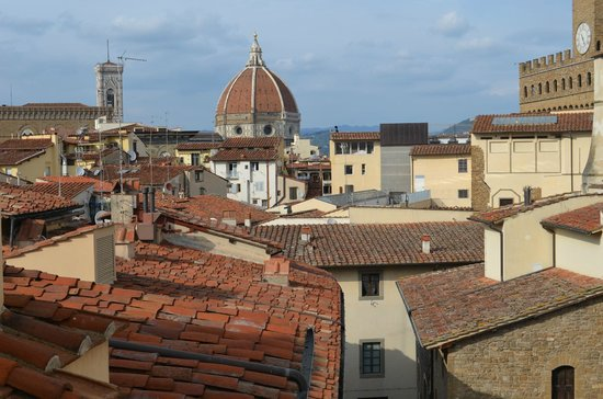 Hotel Degli Orafi: View from the rooftop bar/restaurant