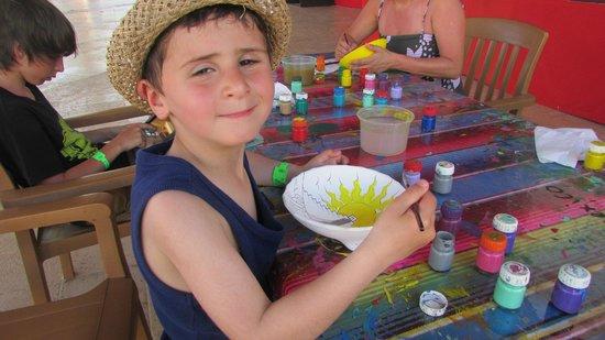 Viva Wyndham Maya : Atelier peinture sur poterie