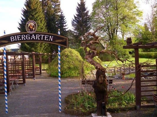 Hotel zur Brockenbahn: der Biergarten