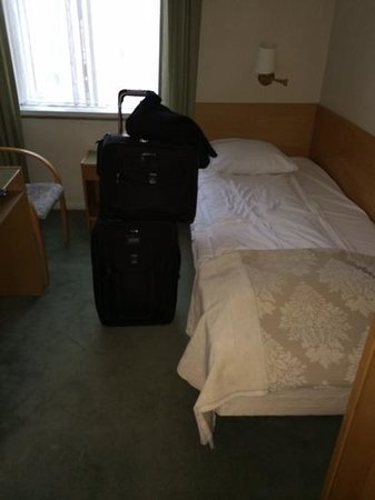 My room at Hotel Nebo (No. 302). If you need more space than this, skip my review and try the Ma