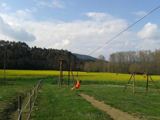 Camping-Bungalow la Vall de Campmajor: Tirolina