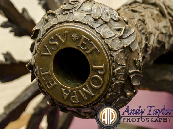 Royal Armouries - Fort Nelson: ornate cannon