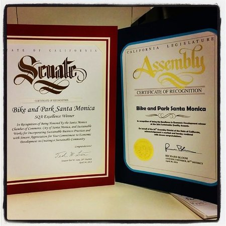 Santa Monica Bike Center: Sustainable Quality Awards