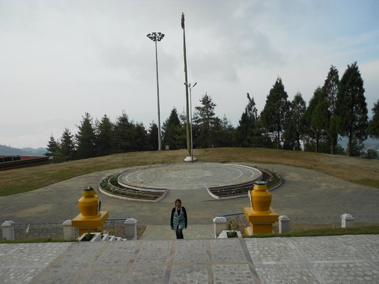 Bomdila War Memorial and View Point: Beautiful scene in monastery campus