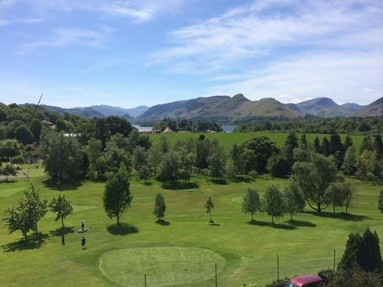 Crow Park Hotel Keswick: The view from our bedroom window at the Crow Park Hotel