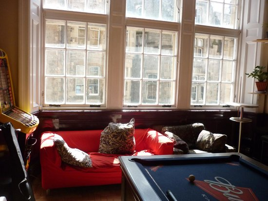 Edinburgh Backpackers Hostel : common room