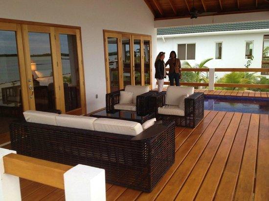 Mayan Islands Resort : Front Deck of Villa