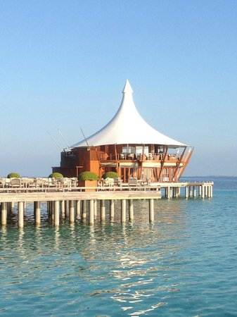 Baros Maldives: The Lighthouse is a beautiful restaurant and lounge with a great wine selection