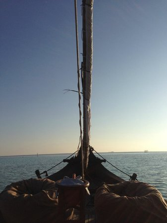 Baros Maldives: Traditional boat which can be booked for sunset dinners