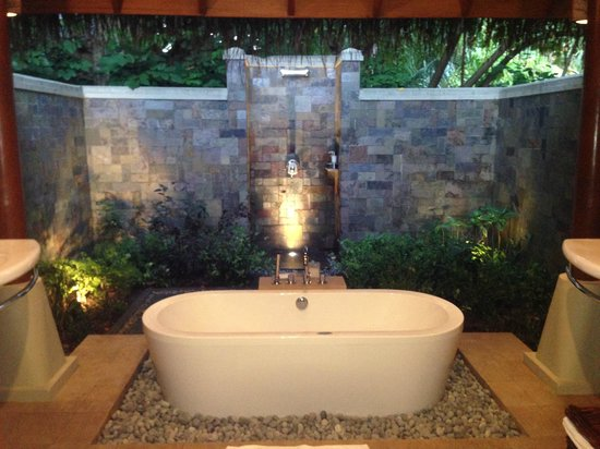 "Baros Maldives: This is the outdoor bathroom of a ""garden hut"""