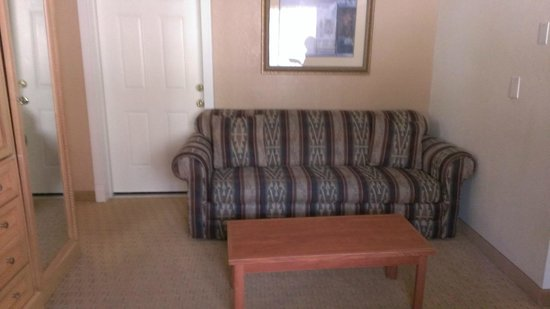 Twin Peaks Lodge & Hot Springs: Comfy couch