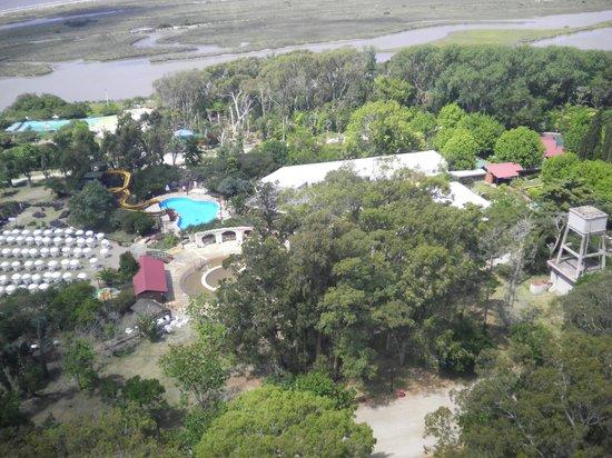 Termas Marinas : Vista del Complejo de las termas desde el Faro San Antonio