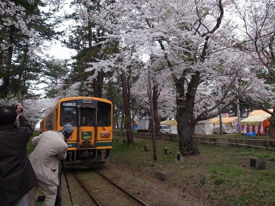 Tsugaru Railways: 命知らずの三脚野郎。頭持ってかれるよ
