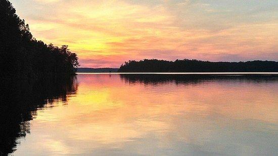 Calhoun Falls State Park: sunset view!