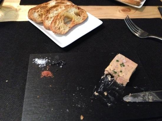 La Incidència del Factor Vi: Foie Gras with 3 different salts and toasted bread
