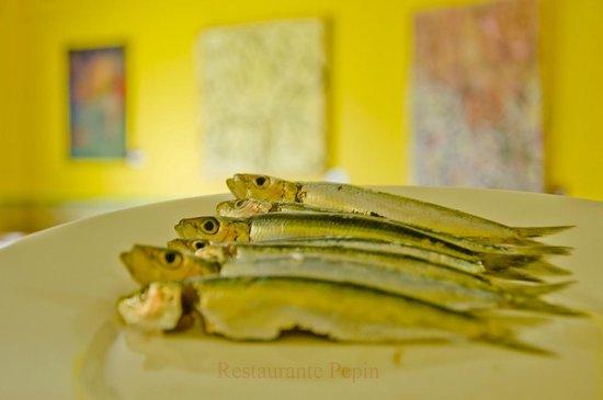 Restaurante Pepin: Unas sardinas a la plancha
