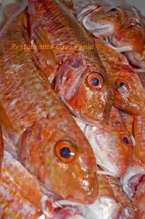 Restaurante Pepin: Salmonetes