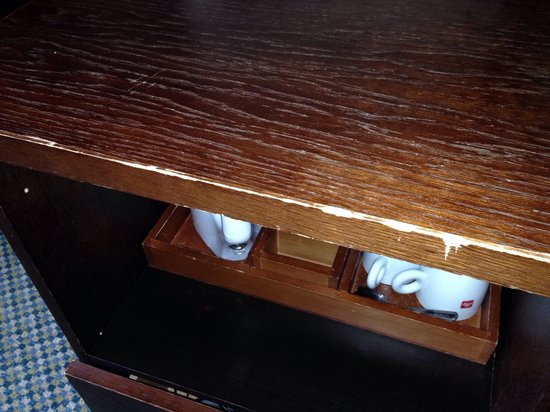 The Bell Hotel & Inn: Old, chipped furniture.