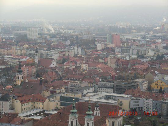Uhrturm: view from above