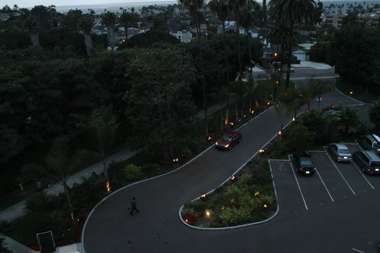 Hotel La Jolla, Curio Collection by Hilton : Evening shot from suite - Love the lighting & ocean view