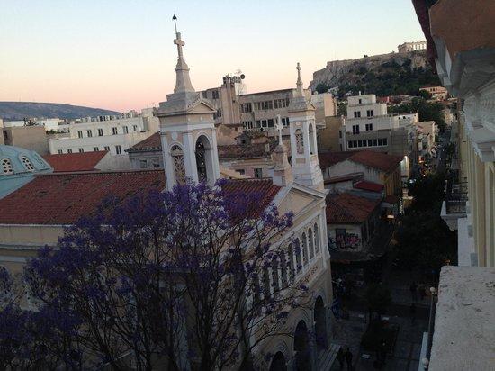 Hotel Tempi: View from the balcony