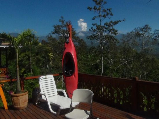 Spanish by the River - Turrialba : Our beautiful view of the Turrialba volcano