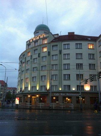 Novum Hotel Vitkov Prag: Вечерний Vitkov