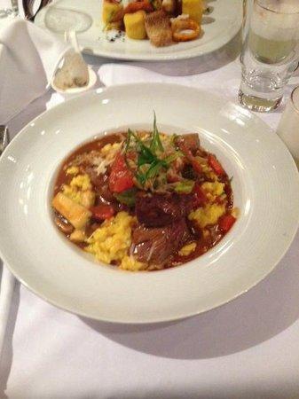 Bardot Nueva Cocina Peruana: Lomo over yellow rice---DELICIOUS!!