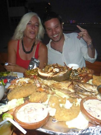 Pancho's: One of the seafood combination platers. Yes its really that big.