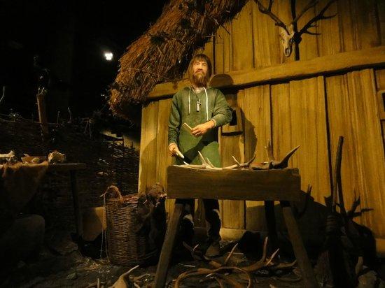 "Jorvik Viking Centre: 2.  Seen on the ""ride""-- Viking figures in an authentic reproduction of Jorvik."