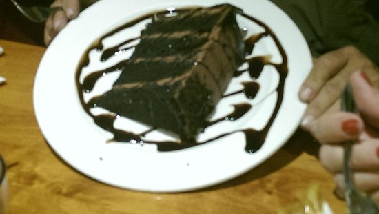 Copper Penny : Suicide Chocolate cake ( this picture really doesn't show the real size, doggie bags were needed
