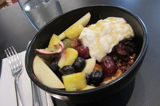 Kopapa Restaurant: 'Half and Half': Fruit Salad, Yogurt, Granola