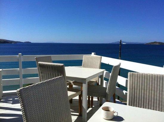 Gavrio, Griechenland: Breakfast/dinner area